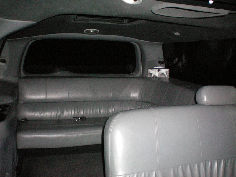 Far back seats in limo
